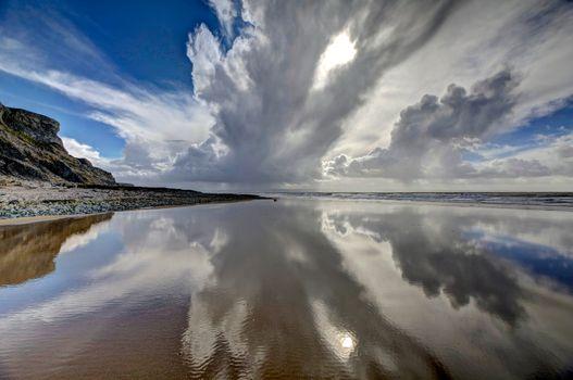 Заставки Пляж Гламорган, побережье Уэльс, пляж