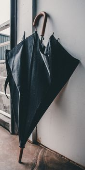 Фото бесплатно зонтик, черные, мокрые