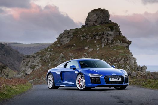 Photo free Audi R8, blue, sporty