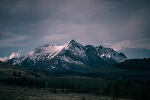 Бесплатные фото горы,деревья,пейзаж,природа,снег,облака