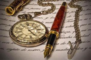 Заставки ручка, часы, письмо