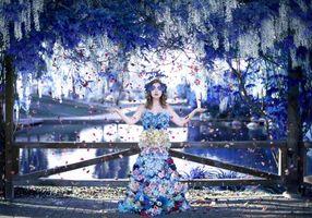 Фото бесплатно девушка, гламур, цветы