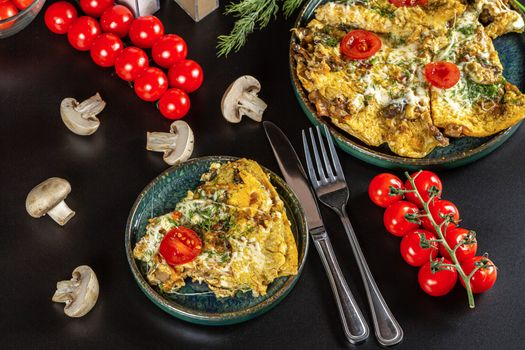 Photo free food, knife, fried egg