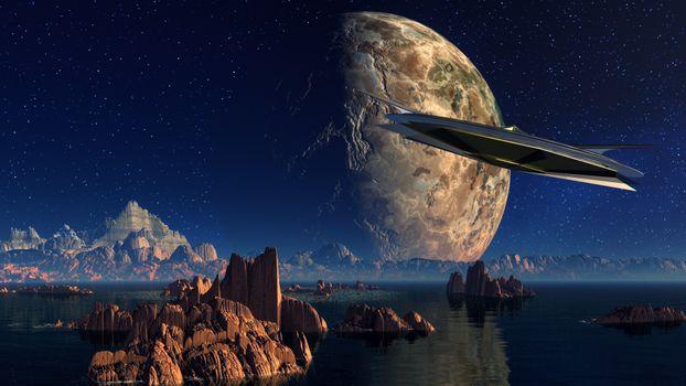 Заставки космос, планета, корабль