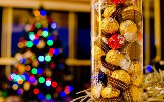 Бесплатные фото праздник,конфеты,шоколад,коробка,