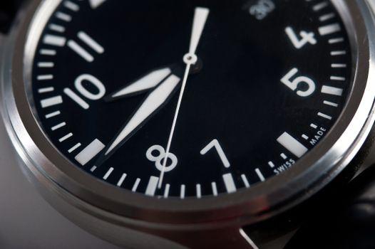 Photo free clock, quartz, close-up