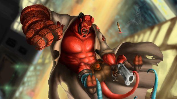 Фото бесплатно Digital Art, работа, Hellboy
