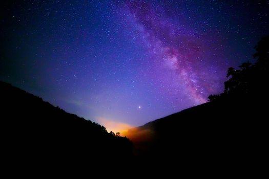 Фото бесплатно Млечный путь, горы, фотографии