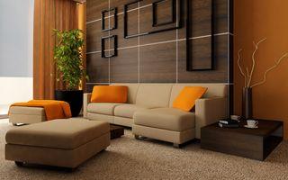 Фото бесплатно гостиная, диван, украшения
