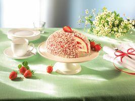 Бесплатные фото tort,vanilnyy,krem,klubnika