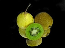 Photo free pear, kiwi, food