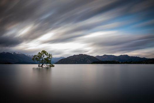 Фото бесплатно пейзажи, горные деревья, горное озеро