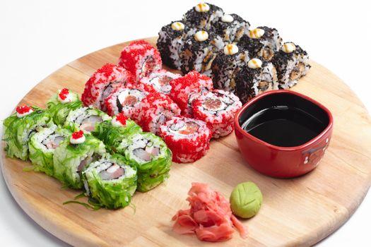 Фото бесплатно суши, рис, морепродукты