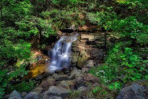 Бесплатные фото водопад, скалы, деревья, природа, пейзаж, Ricketts Glen State Park, Pennsylvania