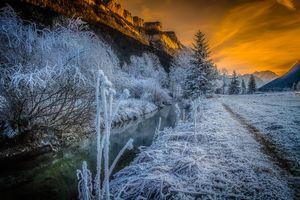 Photo free Waidring, Austria, sunset