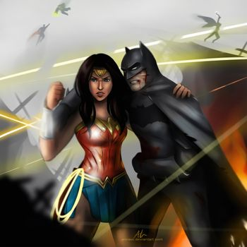Фото бесплатно на сайте DeviantArt, Batman, Wonder Woman