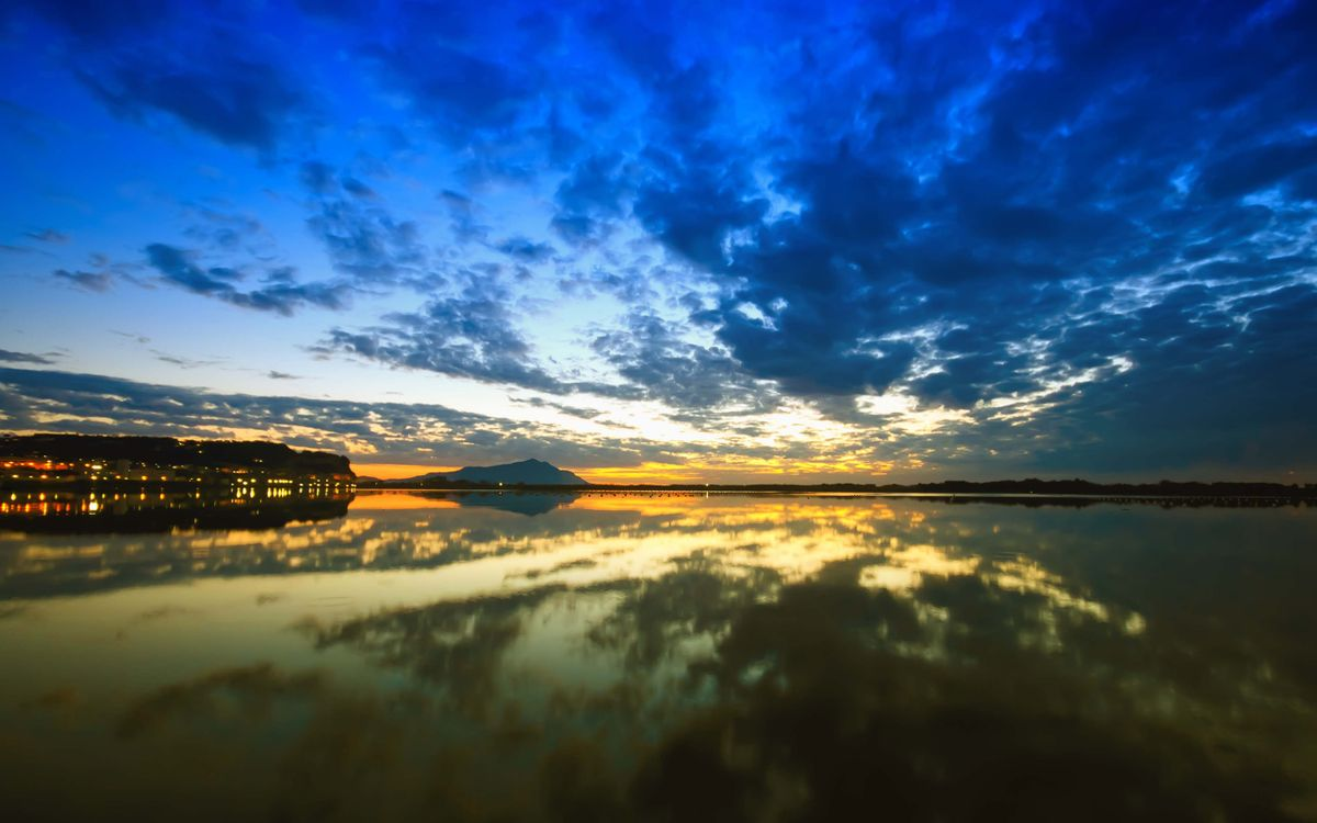 Фото рассвет отражение море - бесплатные картинки на Fonwall