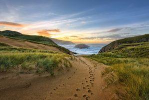 Бесплатные фото Мельмор-Хед,полуостров Росгиэль,графство Донегал,Ирландия,море,берег,закат