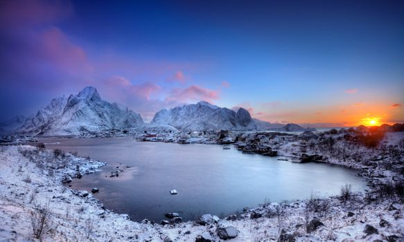 Photo free Lofoten Islands, winter, Norway