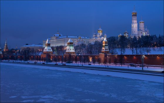 Photo free Russia, Moscow Kremlin, Moscow river