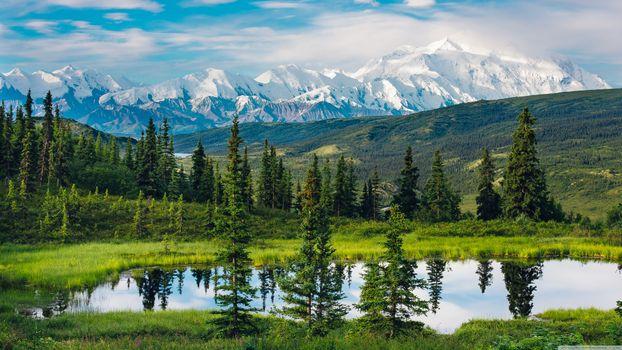 Фото бесплатно Аляска, природа, пейзаж