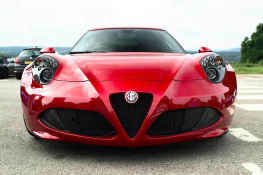 Photo free alfa romeo, red, front view