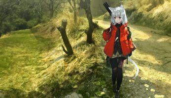 Photo free anime girl, walking, walk