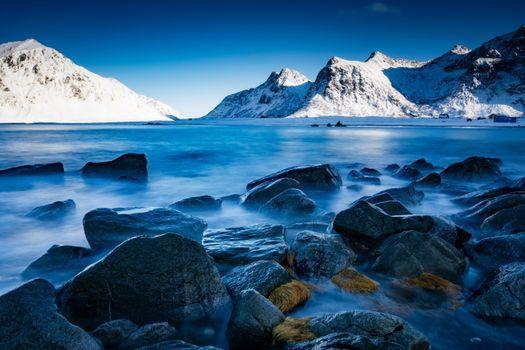 Фото бесплатно камни, горы, Лофотенские острова