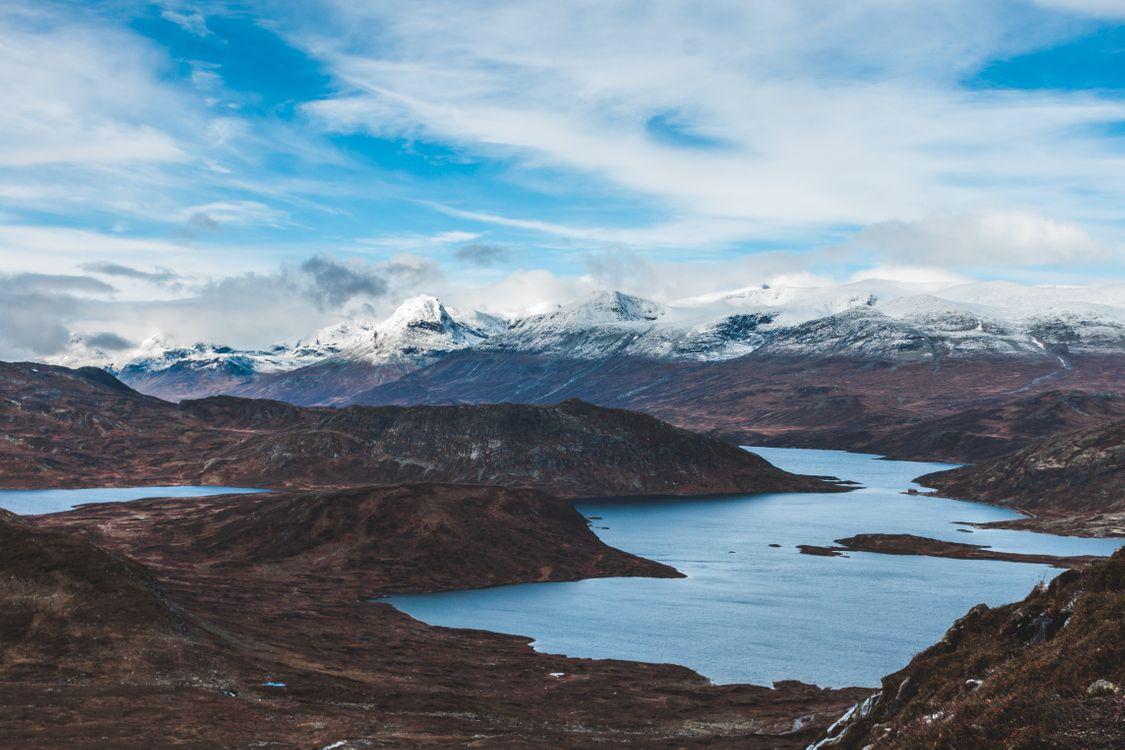 Фото бесплатно lake, mountains, sky - на рабочий стол