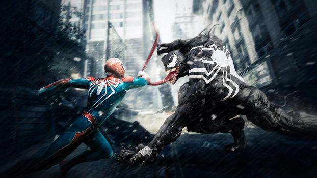 Заставки Venom, Spiderman, супергерои