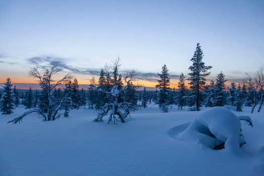 Photo free Lapland, Sunset, Finland
