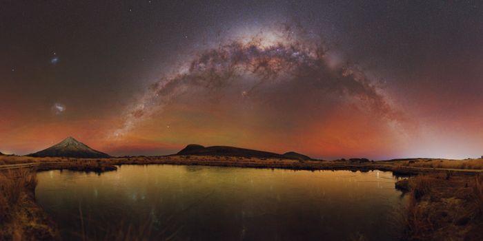 Фото бесплатно горы, природа, Млечный путь