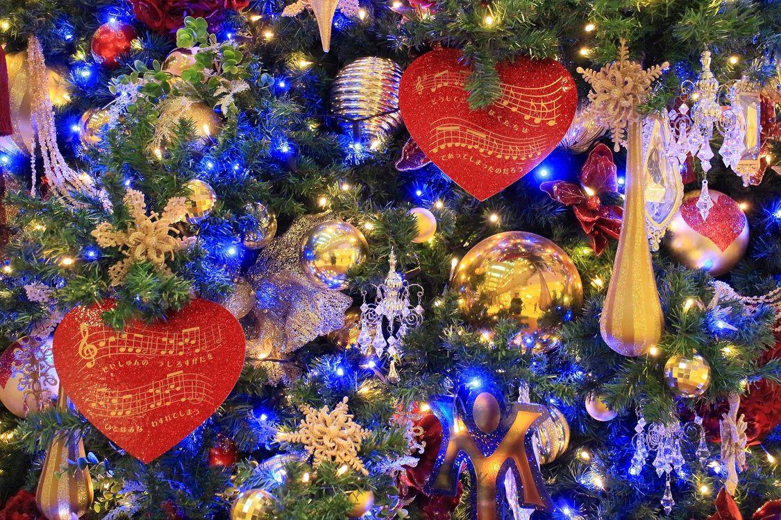 Фото бесплатно игрушки, Новогодние стиль, елка - на рабочий стол