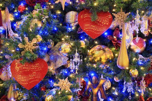 Фото бесплатно игрушки, Новогодние стиль, елка