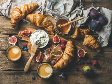 Photo free croissants, ricotta, food