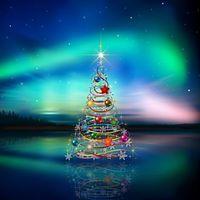 Рождественская елка со звездочкой