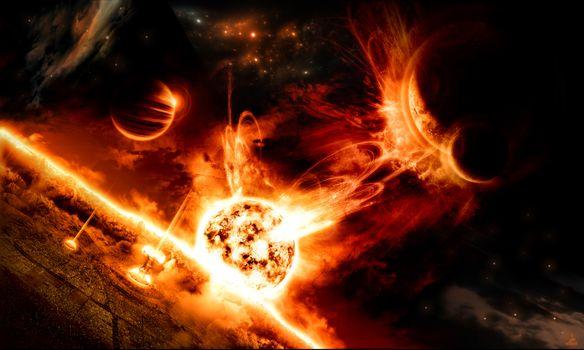 Photo free cosmos, planety, Armageddon