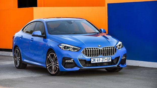 Photo free blue, bmw 218i gran coupe m sport, cars