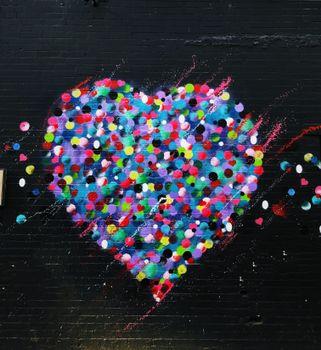 Фото бесплатно сердце, граффити, искусство