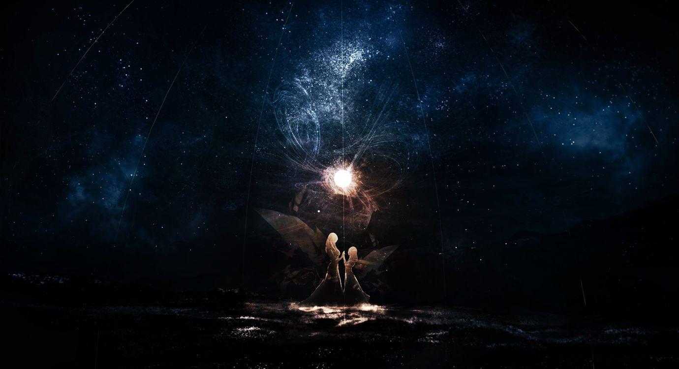Фото девушки аниме звезды магия - бесплатные картинки на Fonwall