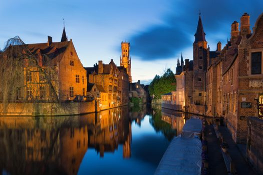 Photo free cities, bruges, night
