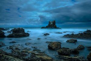 Бесплатные фото море,тучи,скалы,волны,шторм,пейзаж