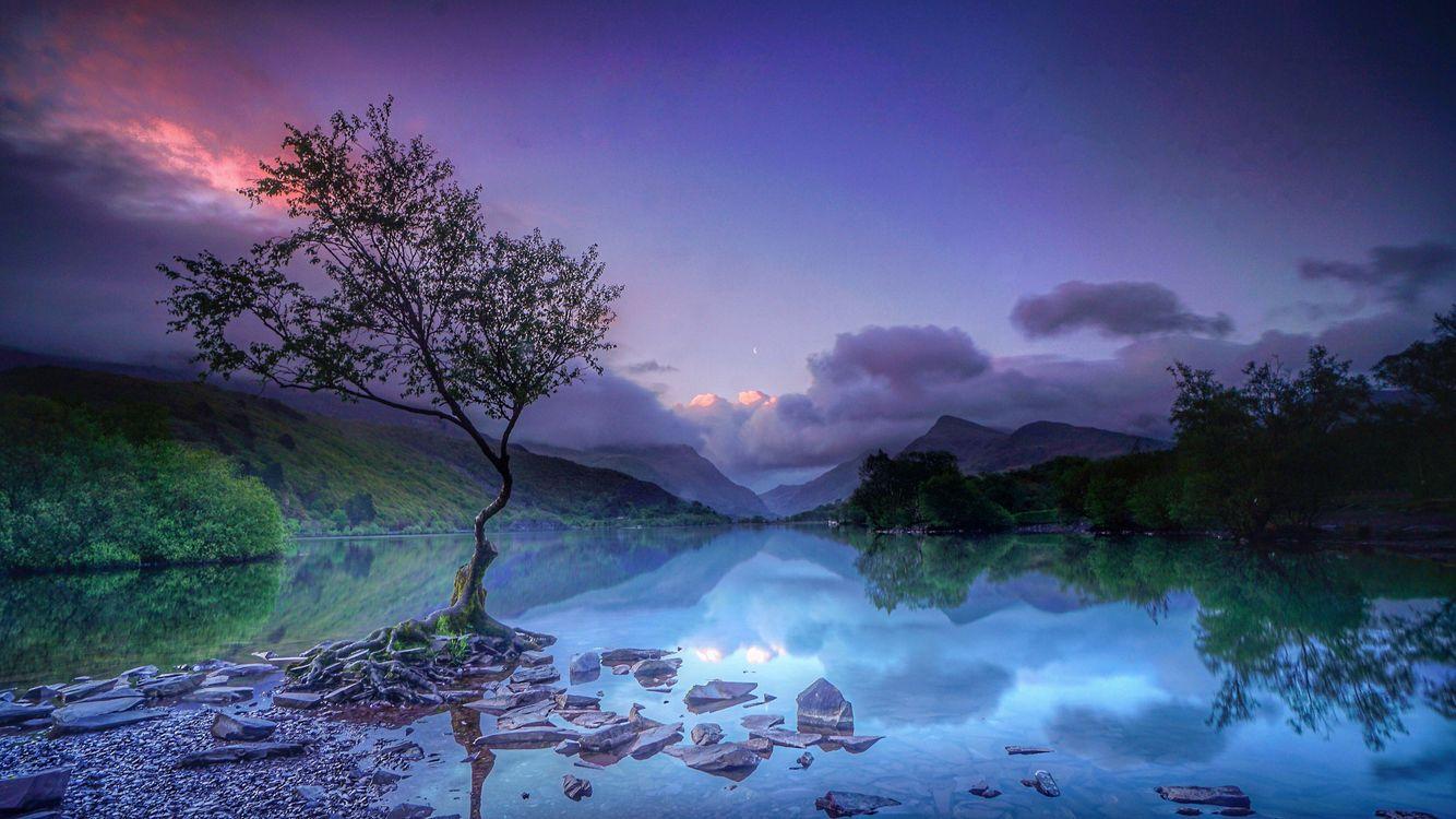 закат солнца на озере · бесплатное фото