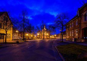 Бесплатные фото Саксония-Анхальт,Германия,ночь