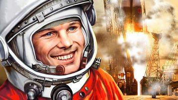 Фото бесплатно Юрий Гагарин, человек, космонавт