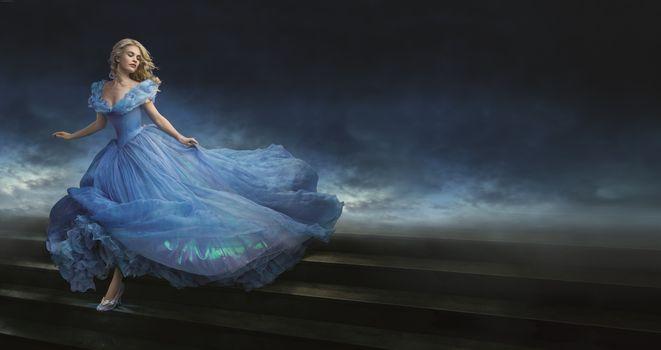 Photo free Lily James, Cinderella, film