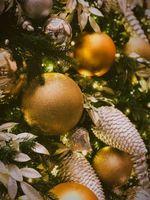 Фото бесплатно рождественские украшения, мяч, блеск, christmas decorations, ball, glitter