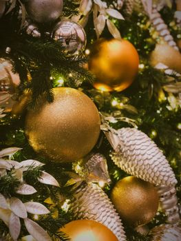 Photo free Christmas decorations, ball, glitter