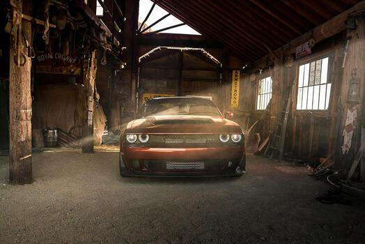Фото бесплатно Dodge Challenger, Додж, автомобили 2021 года