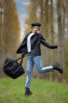 Photo free girls, pose, beret